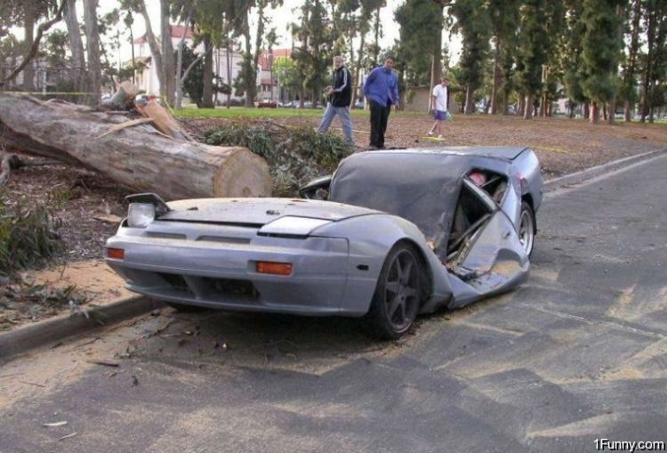 Nissan Hardbody Fog Lights Crushed Car – 1Funny.com