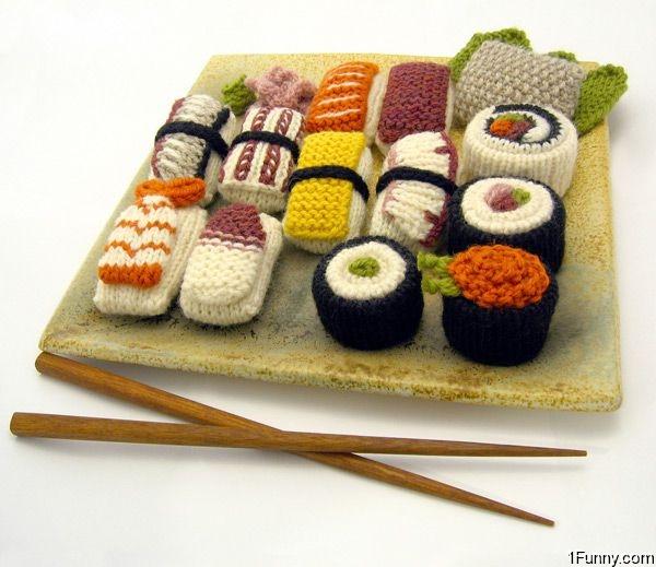 Вязание на палочках суши