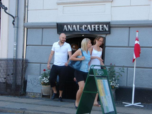 анал в кафе