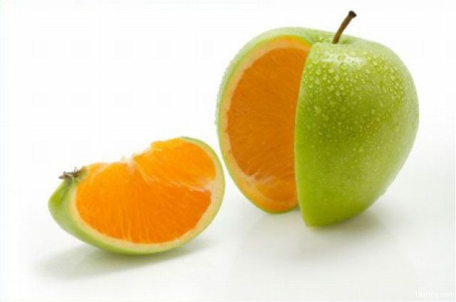 Apple Orange - 1Funny.com