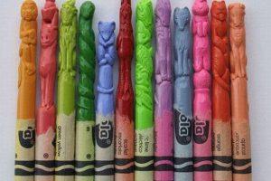 crayon-sculptures
