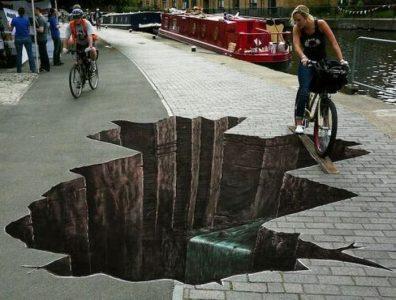 Sidewalk Illusion Art