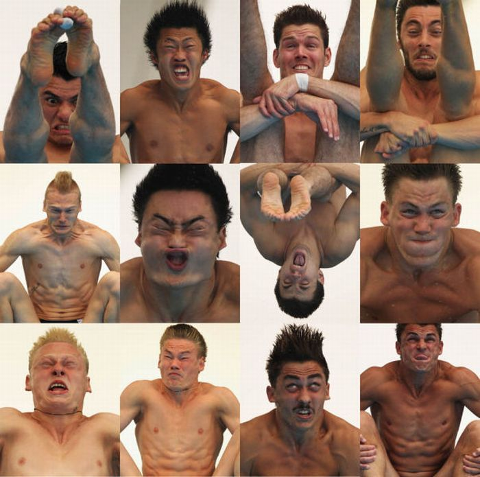 Funny Olympic Diver Faces