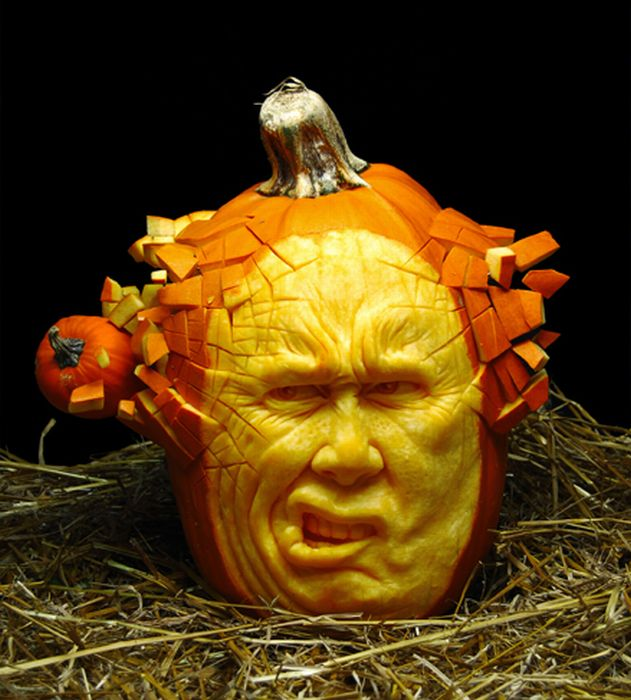 Creative pumpkin carvings funny