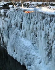Ice Cliff Jumping