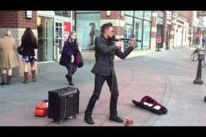 Amazing Street Fiddle Musician
