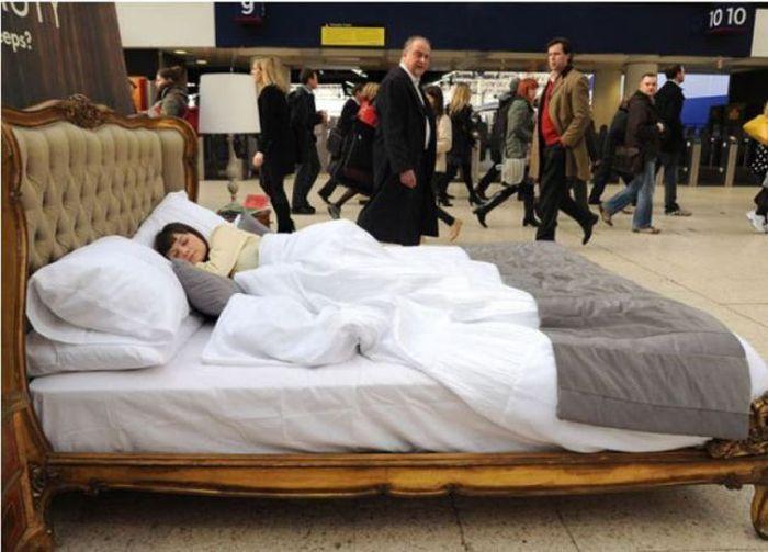 Hispanic Woman Sleeping In Bed Stock Photo - Download