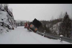 Trucks Falling off a Mountain