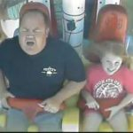 Scared Dad on Ride
