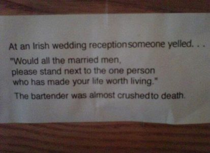 Irish Wedding Reception
