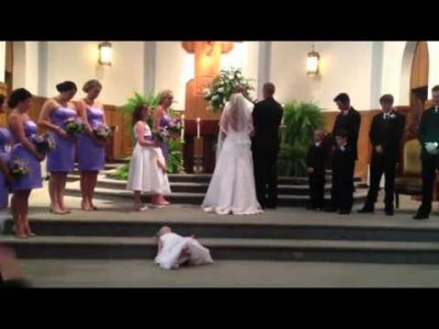 Flower Girl is Tired of Wedding