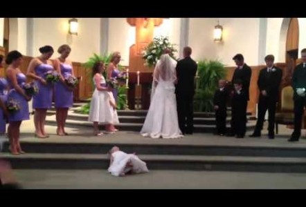 Flower Girl is Tired of Wedding