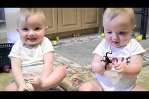Twins Mimic Daddy's Sneeze