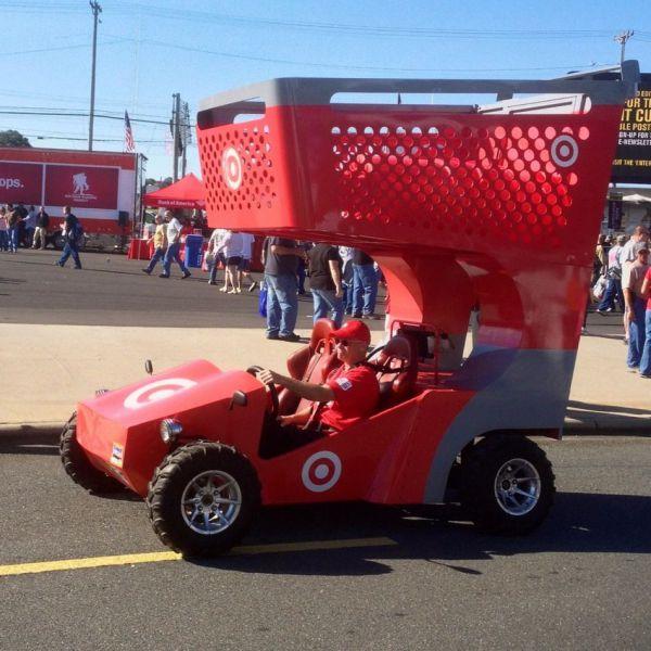 Giant Shopping Cart Race Car