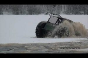 Home Built All-Terrain Vehicle on Thin Ice