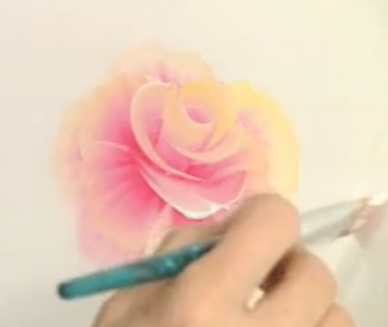 How to Paint the Cabbage Rose