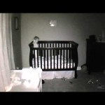Baby Diving in Crib
