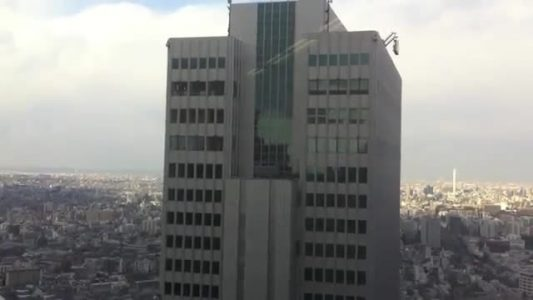Swaying Skyscrapers During Earthquake in Japan