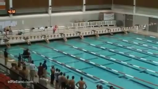 Dolphin Man Swims Entire Race Underwater