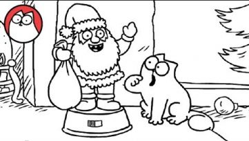 Simon's Cat – Dancing Santa