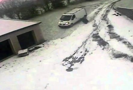 Driver-Chases-Runaway-Van