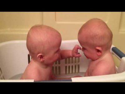 Bathing-Twin-Babies-Steal-Pacifiers