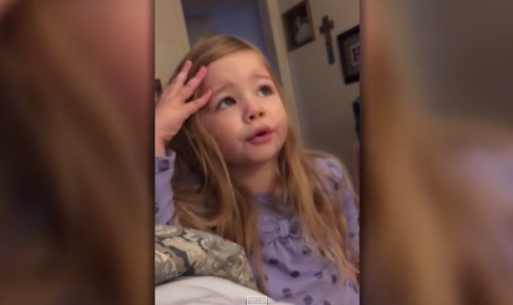 Adorable Toddler Scolds Her Dad For Leaving The Toilet