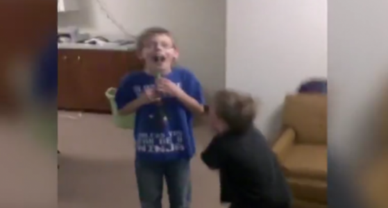 Kid Stuck a Straw Through His Mouth!