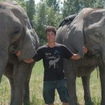 20-Year-Old Acrobat Performs Tricks With His Elephant Family