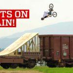 Stunts on a Moving Train!