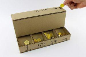 DIY-Coin-Sorting-Machine-from-Cardboard