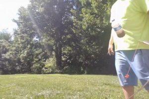 Instinctive-archery-trick-shot-double-swinging-bottles
