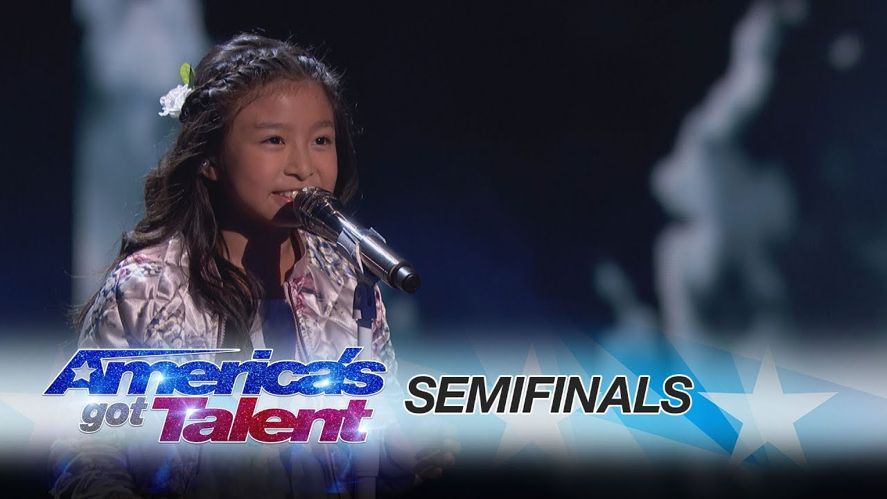 Americas got talent 2017 9 year old opera singer - Celine Tam 9 Year Old Stuns The Audience With How Far I Ll Go 1funny Com