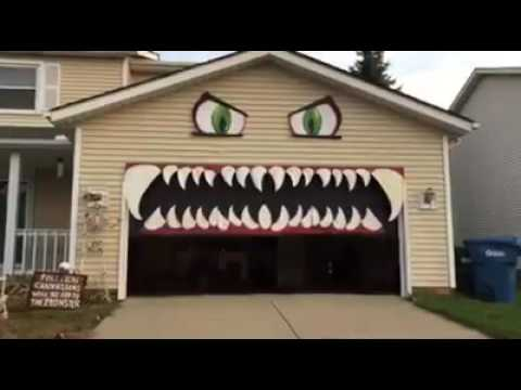 Monster Garage Door 1funny Com