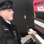 Security Guard OWNS the Play Me Piano (during lunchbreak)