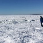 The Ocean Froze over at Cape Cod