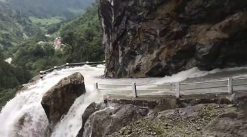 Dangerous-Waterfall-and-Road-in-NEPAL
