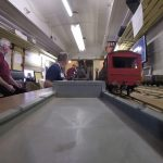 Riding on a Model Train