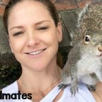 Squirrel Keeps Visiting Her Human Mom After Her Release