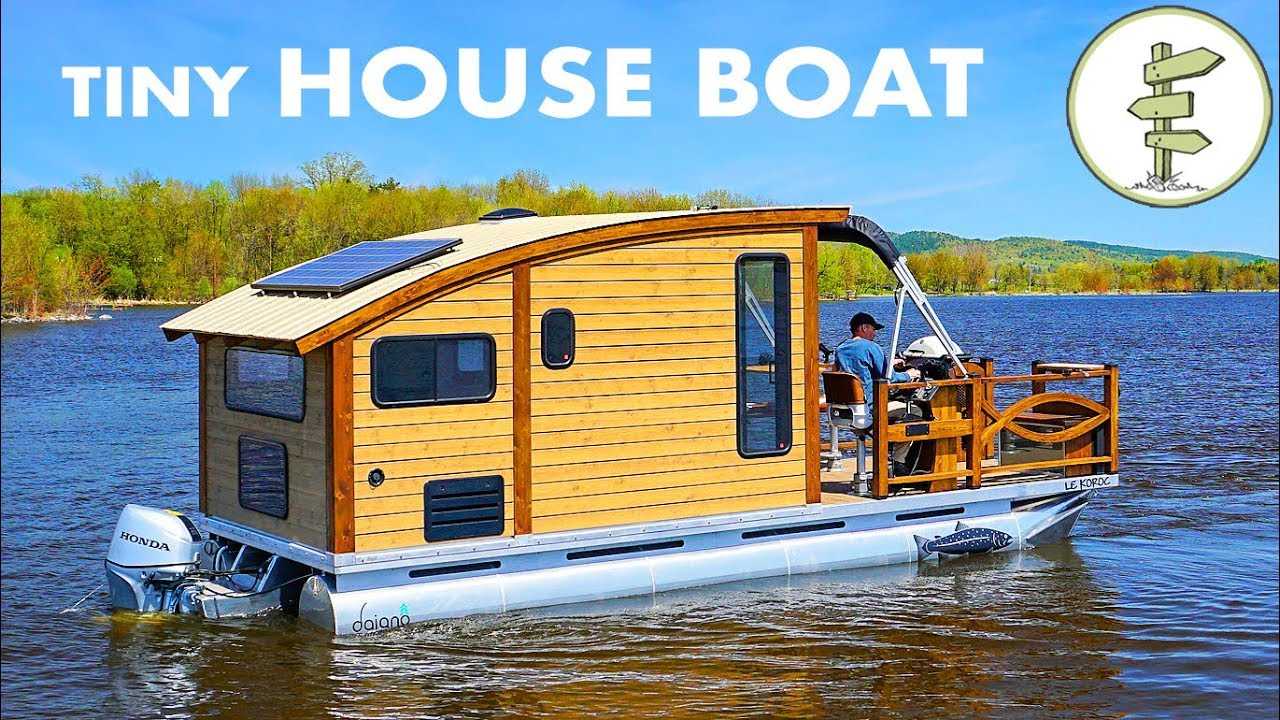 Woodworker Builds The Perfect Tiny House Boat for Life on ...