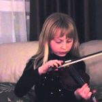 Girl's Bow Breaks While Playing Violin