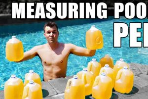 How to Measure How Much Pee Is in Your Pool