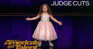 "Sophie Fatu: AGT's Youngest Performer EVER Sings ""New York, New York"""