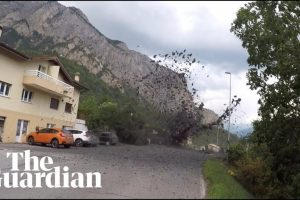 Mudslide Sweeps Into Swiss Village