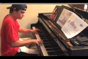 Pizza Boy Shows Up And Starts Playing Piano