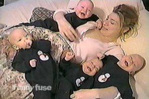 Laughing Quadruplet Babies