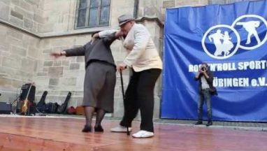 Old Couple Joins a Dance Competition