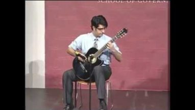 Amazing Harvard Guitar Player