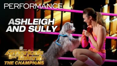 Ashleigh and Sully: Trainer Introduces Incredible Dog to AGT