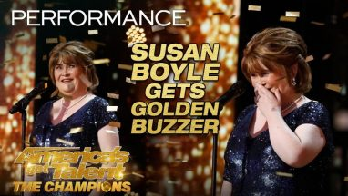 "Susan Boyle Earns Golden Buzzer With Iconic ""Wild Horses"""